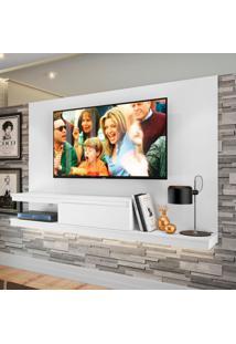 Painel Para Tv Até 60 Polegadas Nath Branco 200 Cm