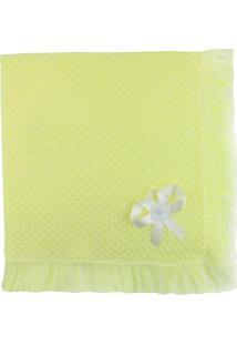 Manta De Tricot Michelle Baby Amarelo