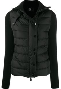 Moncler Grenoble Padded Fitted Jacket - Preto