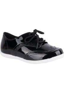 Sapato Molekinha Oxford - Feminino-Preto