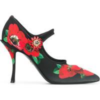 89d5d3c5e Dolce & Gabbana Scarpin Mary Jane Floral - Preto