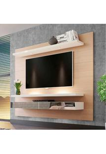 Painel Para Tv 65 Polegadas Com Led Monet Natural E Off White