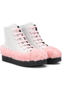 Marni Kids Faux Fur Detail Ankle Boots - Cinza