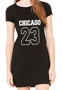 Vestido Criativa Urbana Estampado Chicago 23 - Feminino