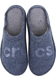 Chinelo Crocs Logo Slipper - Unissex-Azul Escuro