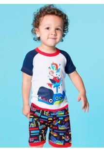 Pijama Infantil Puket Robôs - Masculino
