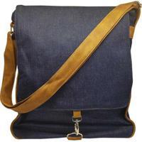 09beb3885 Bolsa Use Fast Estilo Carteiro Com Gancho Jeans - Unissex-Jeans