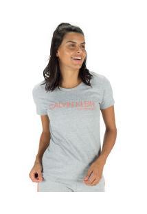 Camiseta Calvin Klein Silk - Feminina - Mescla