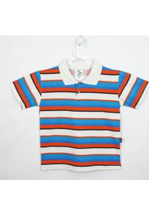 Camiseta Infantil Lucyval Manga Curta - Masculino-Listrado