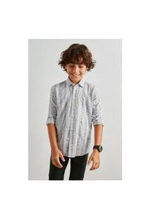 Camisa Mini Pf Textura Horizontal Inv 19 Reserva Mini Verde