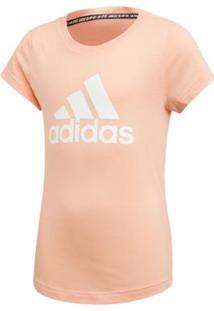 Camiseta Adidas Infantil Mh Bos Feminina - Feminino-Rosa