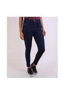 Calça Jeans Feminina Skinny Levanta Bumbum Cintura Super Alta Jeans Amaciado