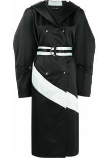 Kiko Kostadinov Trench Coat Mangas Amplas - Preto