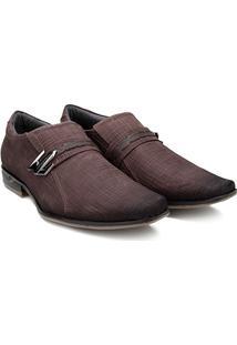 Sapato Social Couro Pegada Masculino - Masculino-Café b81a8eaa0f97a