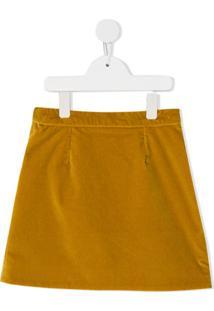 Dolce & Gabbana Kids Saia De Veludo Cotolê - Amarelo