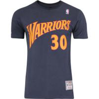 5ddb7a8d4 Camiseta Mitchell   Ness Golden State Warriors Name And Number - Masculina  - Azul Escuro