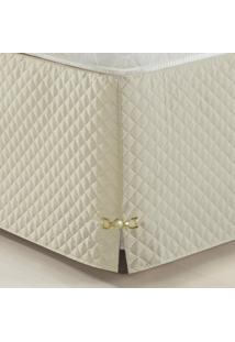 Saia Para Cama Box Decorativa Queen Size Veneza Palha