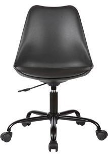 Cadeira Office Rodízio Luisa-Rivatti - Preto