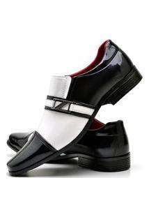 Sapato Social Com E Sem Verniz Fashion Com Relógio New Dubuy 820El Branco