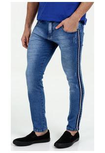 Calça Masculina Jeans Listra Skinny Biotipo