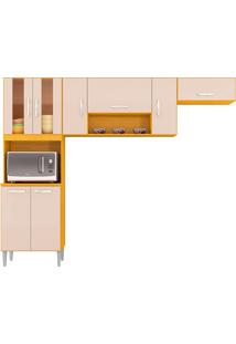 Cozinha Compacta Lavinia-Poquema - Damasco / Off White