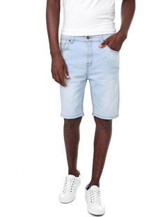 Bermuda Jeans Quiksilver Reta Artor Azul