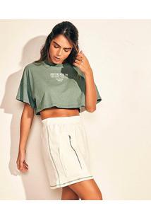 Camiseta Cropped Colcci Eco Active Feminina - Feminino-Verde