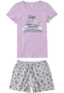 Pijama Feminino Curto Malwee 1000073434 01635-Lila