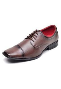 Sapato Social Masculino Com Cadarço Top Flex Marrom