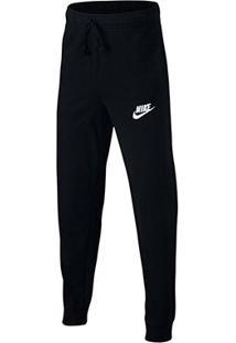Calça Infantil Nike Sportswear Jogger Masculina - Unissex-Preto+Branco