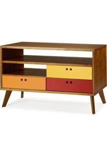Rack Holly 3 Gavetas - Colorido - Tommy Design