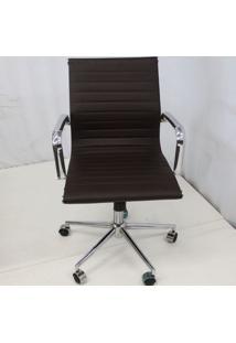 Cadeira Office Outlet Estofada Baixa Cafe Cromada - 10 - Sun House