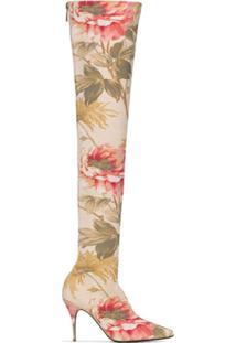 Zimmermann Bota Over-The-Knee Floral - Rosa