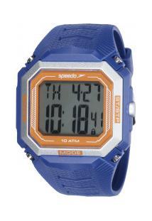 Relógio Digital Speedo 80602G0 - Unissex - Azul/Laranja