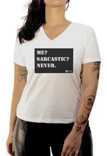Camiseta Luma Ventura Frase Sarcastic Branca
