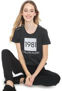 Camiseta Calvin Klein Underwear Lounge Grafite