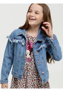 Jaqueta Infantil Jeans Desfiada Marisa