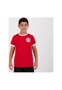 Camisa Internacional Colorado Juvenil Vermelha E Branca