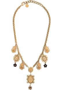 Dolce & Gabbana Colar Com Pingentes - Dourado