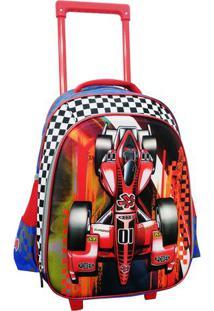Mochila Team Wheels 3D- Vermelha & Azul Escuro- 41X2Travel Max