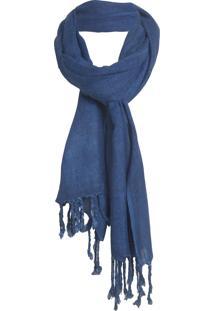 Echarpe Market 33 Fringe - Azul