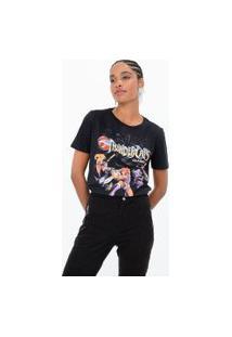 Camiseta Manga Curta Estampa Thundercats   Warner Bros   Preto   P