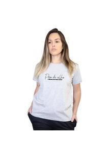 Camiseta Feminina Pão De Alho Cinza