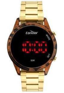 Relógio Feminino Condor Digital - Cojhs31Bah/7S - Feminino-Dourado