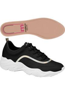 Sneaker Holográfico- Preto & Branco- Salto: 4Cm-Moleca