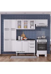Cozinha Compacta 3 Peças Com 3 Portas De Vidro Luce 2018 Itatiaia Branco