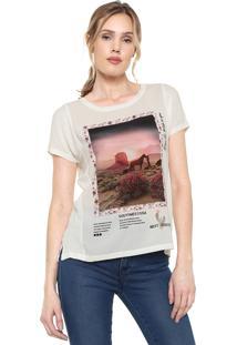 Camiseta Only Estampada Off-White