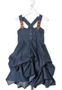 Lapin House Vestido Com Detalhe De Fivelas - Azul