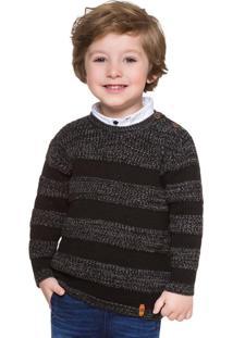Casaco Infantil Masculino Preto