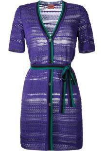 Missoni Vestido Com Abotoamento - Pink & Purple